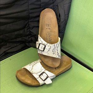Birkenstock snakeskin pattern sandal